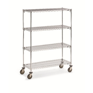 Wire 4 Shelf Super Adj.Truck 24x48x68""