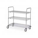 """Wire Shelf Utility Cart 24 x 36"""" 3 Shelf"""