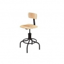 "Stool - Adjustable Height 20-28"" Plywood"