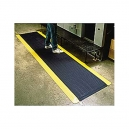 Anti-Fatigue Diamond Plate 2x3'  Mat Black w/Yellow Border
