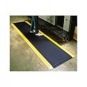 Anti-Fatigue Diamond Plate 2x3'  Mat Black w/Yellow Border