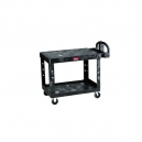 "Cart - Utility Flat Shelf 19x30"" 2 Shelf Black"