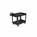 "Cart - Utility 24 x 36"" 2 Shelf w/5"" Casters-Black"