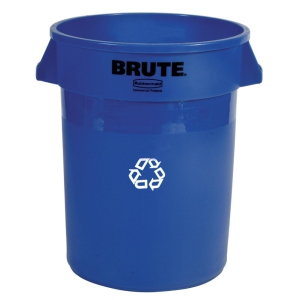 BRUTE Round RECYCLE 20 Gallon -Blue
