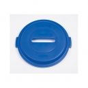 BRUTE RECYCLE Paper Slot Lid - Blue for 32 Gallon