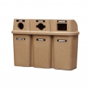 Bullseye TRIO Recycling Station - Sandstone