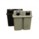 Bullseye DUO Recycling Station - Greenstone