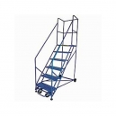 Rolling Safety Ladder 50 Degree 9 Step