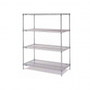 "Wire Shelving-Super Erecta 18x48x74"" 4 Shelf Starter"