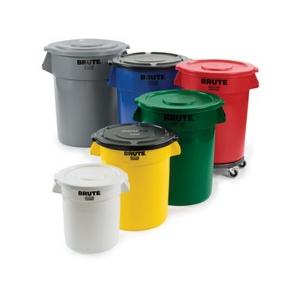 BRUTE Round Container -10 Gallon - Dark Green