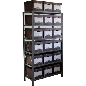 "Record Storage Shelving-Boltless 18""Dx42""W x 79""H 5 Shelf Add-on Unit"